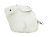 Plush White Rabbit Shape Purse