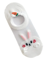 Bunny and Carrot Anklet Socks