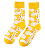 All Things Bunnies Yellow/White Bunny Socks