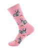 All Things Bunnies Pink Bunnies & Carrots Socks