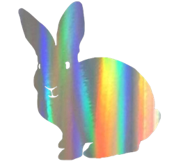 Holographic Rabbit Decal/Sticker