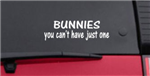 Bunnies You Can't Have Just One Sticker
