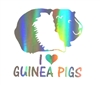 """I Love Guinea Pigs"" Sticker"