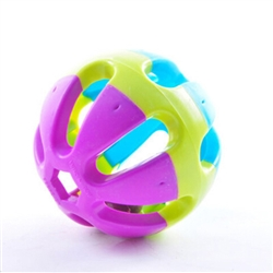 "3"" Plastic Ball with Bell Toy"