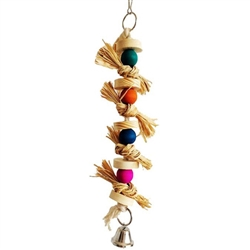 All Things Bunnies Hanging Wood Toy with Bell