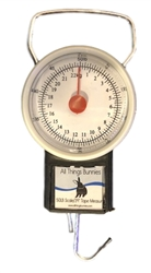 All Things Bunnies 50lb Hanging Scale & Tape Measure
