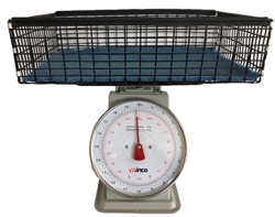 Winco 20-Pound Scale with Wire Basket Kit