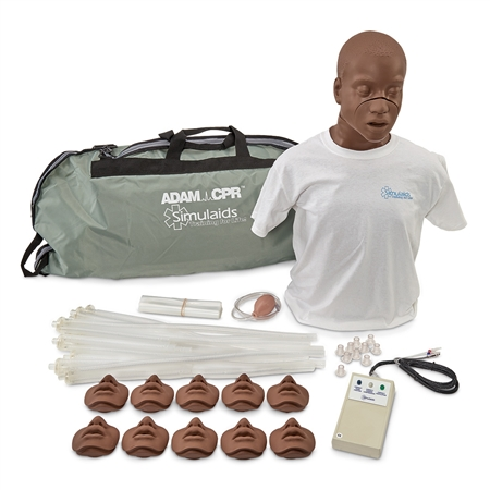 David African American CPR Adult Manikin w/Electronics and Carry Bag