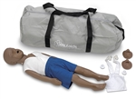 3-Year-Old Kyle CPR manikin African-American with Carry Bag