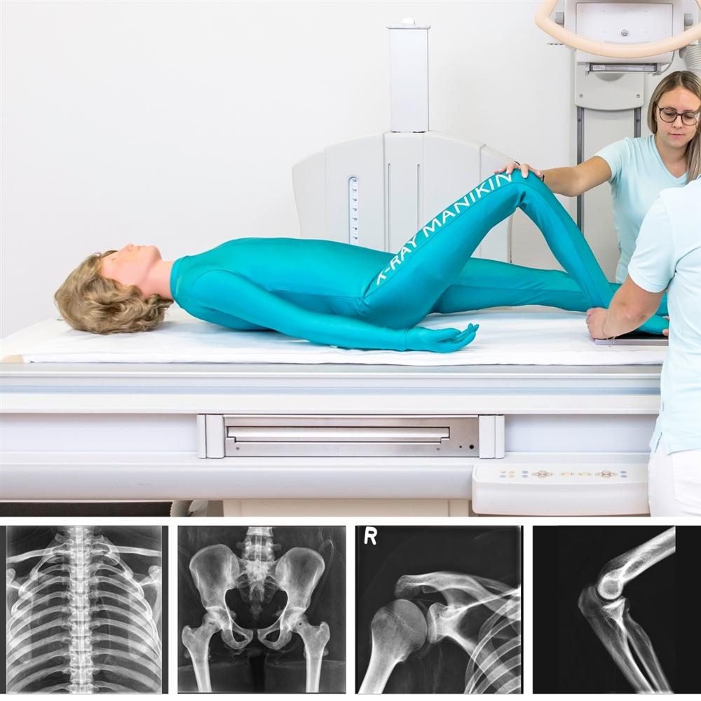Full Body X-Ray Phantom with Real Human Skeleton Bones