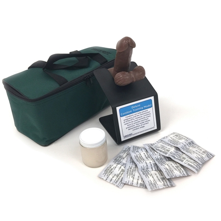 Deluxe Condom Training Model, Brown - HE-26402