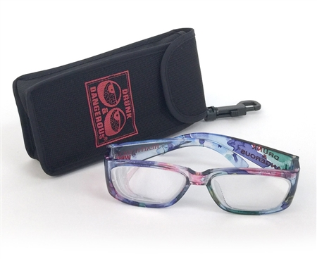 Drunk & Dangerous Glasses with Case