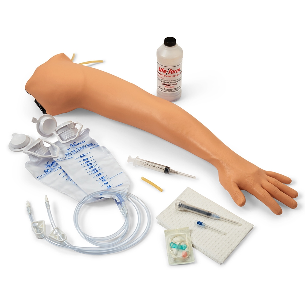 Life/form Adult Venipuncture and Injection Training Arm - Light Skin