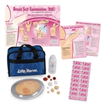 Breast Examination Trainer | Single Breast Examination Trainer | Single Breast Examination Simulator | Life/form Single Breast Examination Trainer | Nasco's LF00975U Complete Breast Examination Education Kit