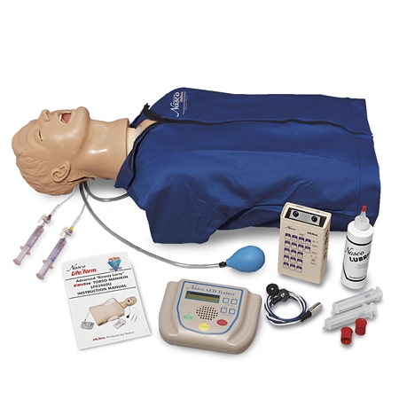 Advanced Airway Larry  Torso with Defibrillation Features, ECG Simulation, and AED Training