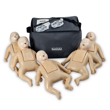 CPR Prompt® TPAK 50 Infant Training Pack - 5 Tan Manikins - LF06051U