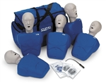 CPR Prompt® Training and Practice Manikin - TPAK 100 Adult/Child 5-Pack, Blue - LF06100U