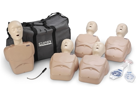 CPR Prompt® Training and Practice Manikin - TPAK 100 Adult/Child 5-Pack, Tan - LF06102U