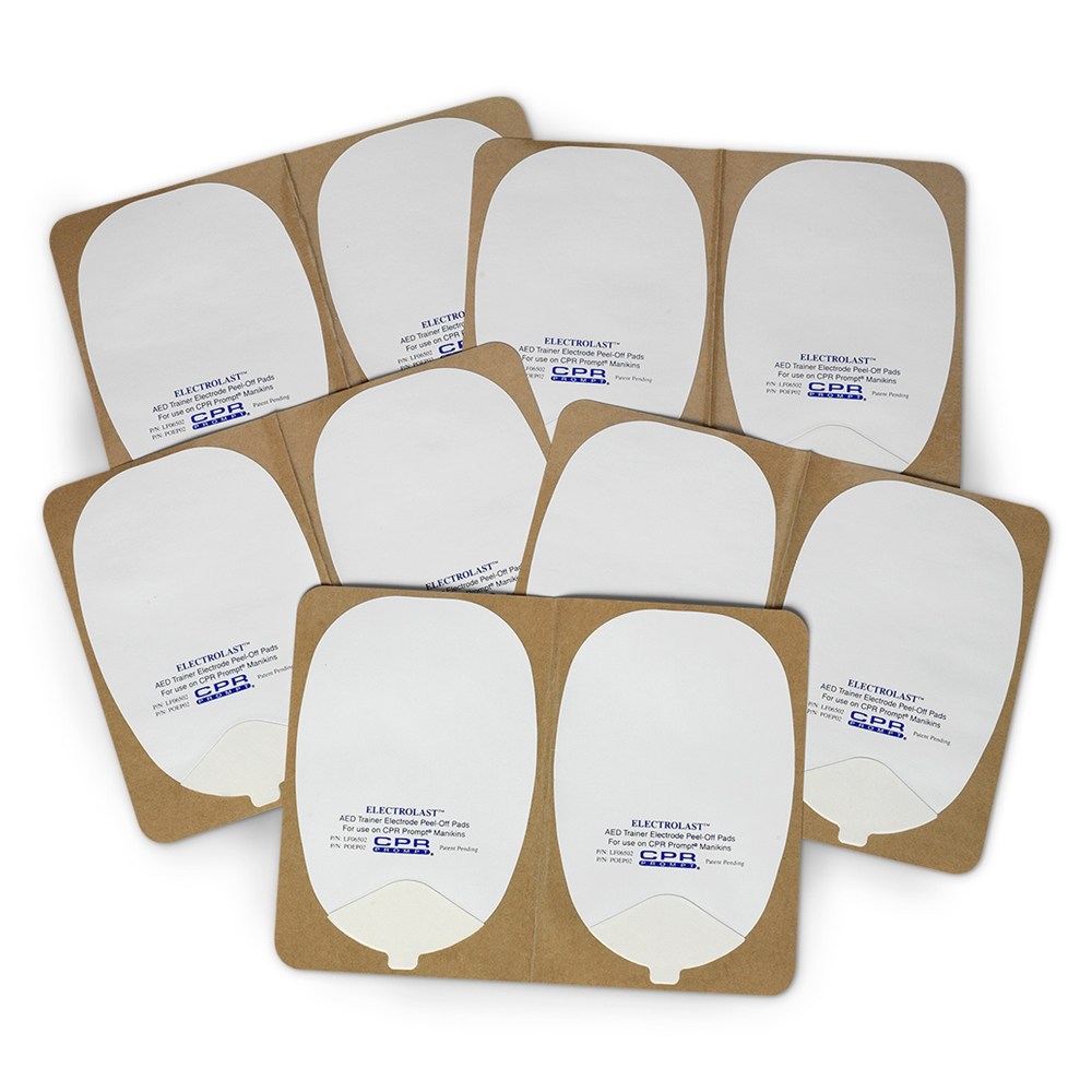 ElectroLast AED Trainer Foam Electrode Peel-Off Pads, Heartstream