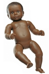 SOMSO Doll for Baby Care With Open Anus - Black in Colour - MS33-E-B