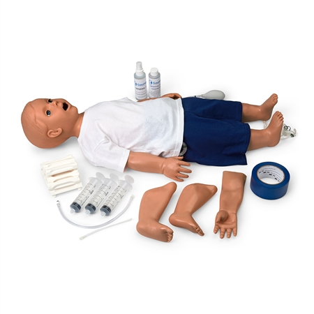 Pediatric Patient Care Simulator | Pediatric Patient Care Manikin | CPR Pediatric Manikin | Multipurpose Pediatric Patient Care Simulator | Multipurpose Pediatric Patient Care Manikin | Multipurpose Patient Care and CPR Pediatric Simulator S117