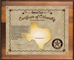 Honorary Texan Plaque