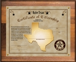 Native Texan Plaque