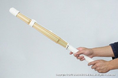 SUPER HEAVY :: Indoor Self Training Short (for both hands) Suburi Shinai Oval Grip [Assembled - Size 77cm/30.5in]