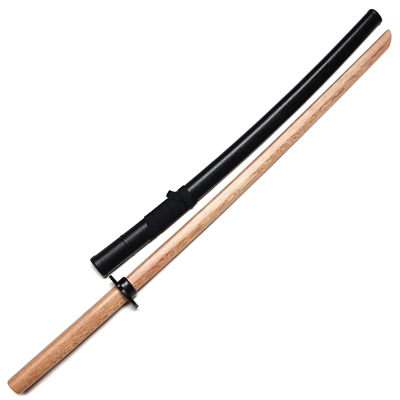Master Series :: Iaido Practice Set (Natural Oak Bokken with Tsuba & Saya)