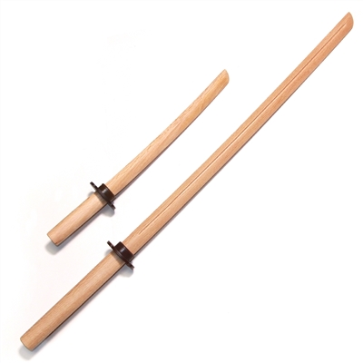 Master Series :: Oak Bokken with Groove Set (Long + Short) NATURAL