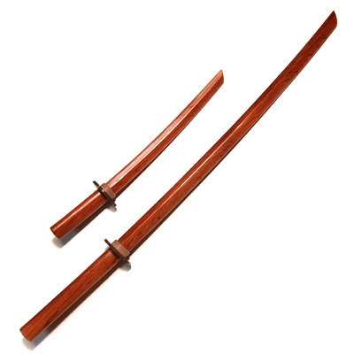 Master Quality RED OAK Bokken Set (Long and Short)