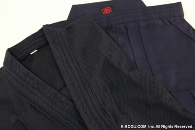 Jersey Keikogi & TETRON Hakama Set [Navy Blue or Black]