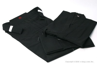 Top Quality IAIDO Gi & Tetron Hakama (BLACK) Set