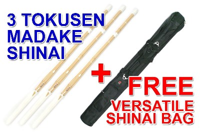 Top Quality TOKUSEN MADAKE Select Shinai + Versatile Shinai Bag