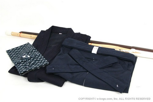 Light Weight Keikogi/Hakama Set with Shinai, Bokuto, and Shinai Bag