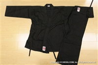 ** OUTLET ** Light Weight Black Karate Uniform - Size 2