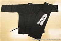 ** OUTLET ** Light Weight Black Karate Uniform - Size 4