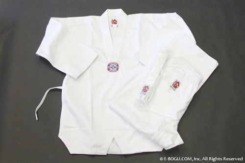 ** OUTLET ** Twaekwondo Uniform Set (White Collar) -size 1
