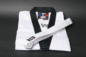 ** CLEARANCE ** Taekwondo Uniform Top and Belt with Black Collar- size 7