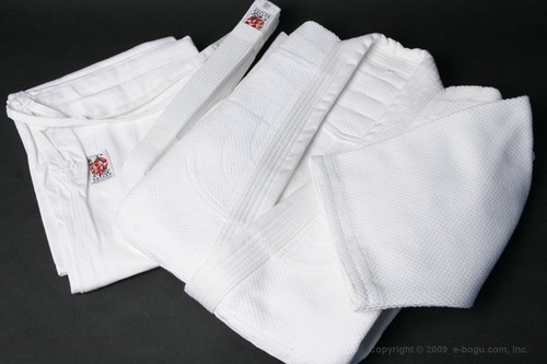 Top Quality BUTOKU Brand Double Layer Aikido Uniform Set