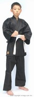 Top Quality BUTOKU LIGHT Weight Karate Uniform Set (BLACK)