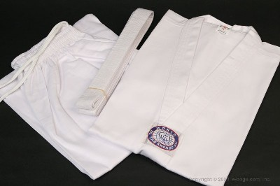 Taekwondo Uniform Set with White Collar Junior