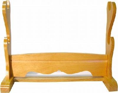 2 Tier Natural Wooden Sword Stand