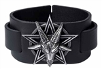Alchemy Baphomet Pentagram Leather Wriststrap