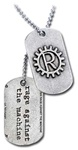 Rage Against the Machine Gear Wheel Dog Tag