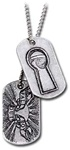 Fall Out Boy Keyhole & Logo Dog Tag