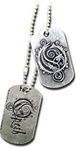 Opeth 'O' & Logo Dog Tag