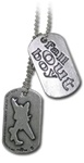 Fall Out Boy Logo & Plane Dog Tag