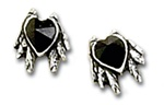 Black Heart Studs (pair)