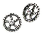 Alchemy Diamond Crank-Wheel Earrings